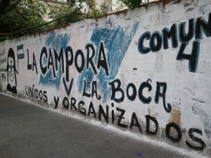 Pro-government political graffiti, taken in Buenos Aires during field research.